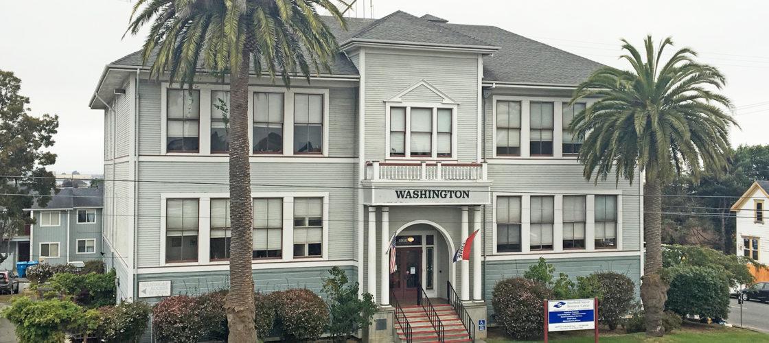 The old Washington School building circa 2015