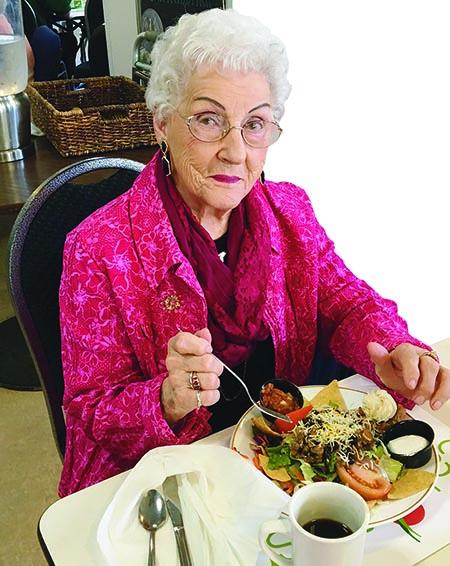 Elder female diner at HSRC
