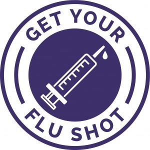 """graphic that says """"get your flu shot"""""""