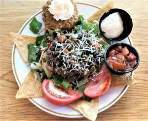 Taco salad lunch plate