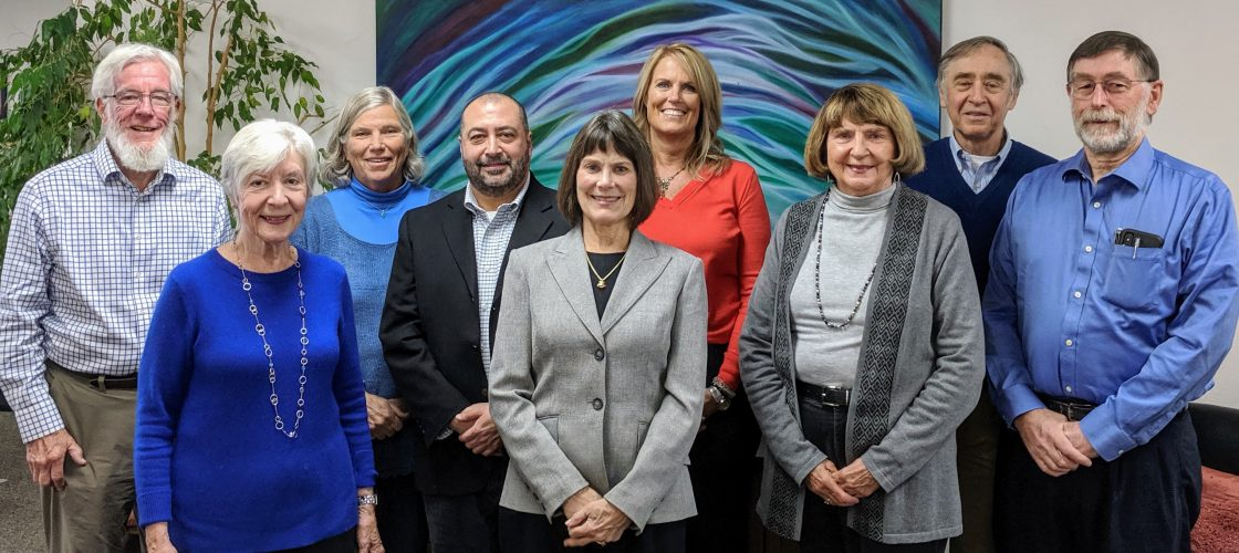 The Humboldt Senior Resource Center Board of Directors includes, from left, Jack Irvine (President), Joan Rainwater-Gish, Kathryn Dunning (term ended June 30, 2020), Frank Ramos, Nancy Dye Leer (Secretary),  Dianne Keating, Susan Hansen, Bruce Kessler, and Willard Foote (Treasurer), along with James Aste (Vice President) and Patti De La O (not pictured).